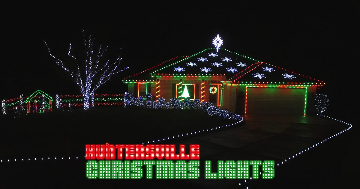 Huntersville Christmas Lights – Award-winning musical display